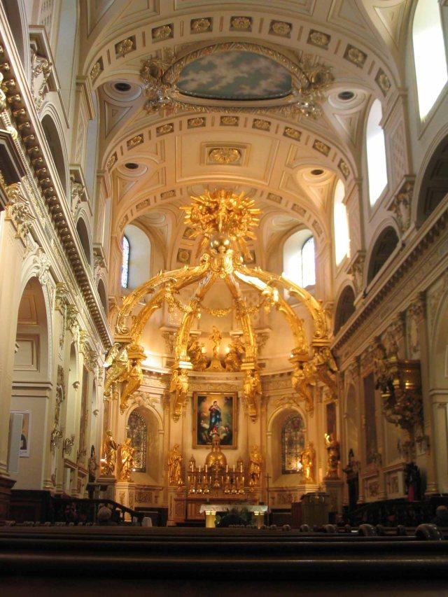 Inside the Notre-Dame de Quebec Basilica.