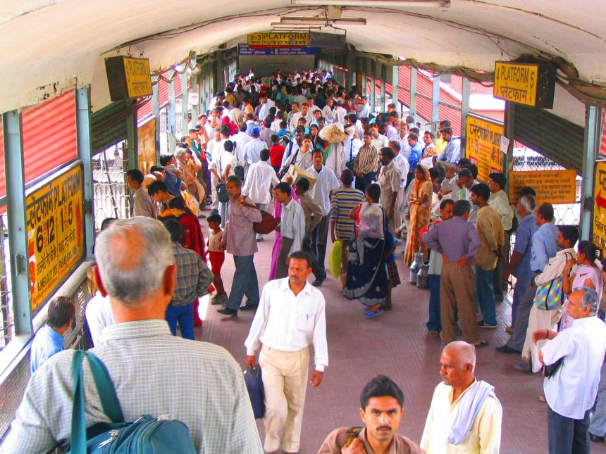 Delhi train station.