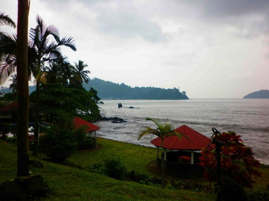 Looking out over the bay in Limbe