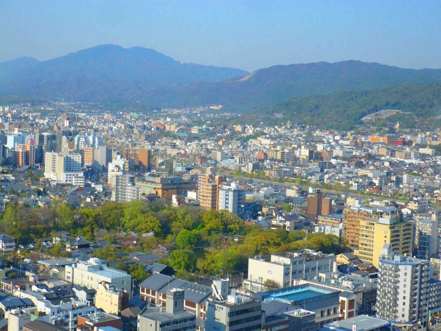 A view of Kyoto from the tower