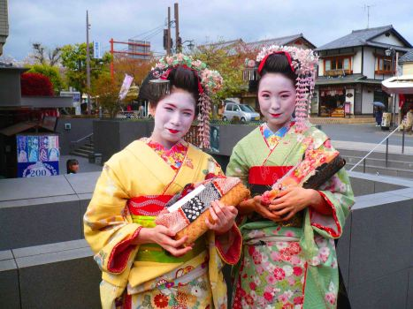 Dressing up as Geishas