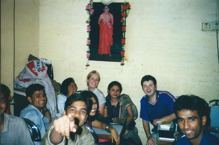 New friends in Mumbai, India, 2001