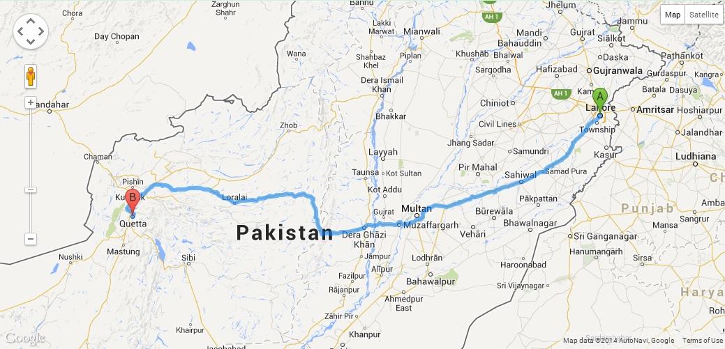 Train Journeys Lahore To Quetta Pakistan Andys World Journeys - Pir mahal map