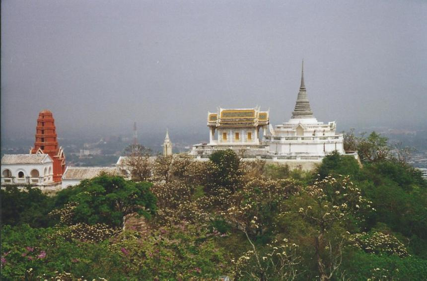 Temple atop the hill at Phetchaburi