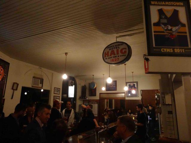 Inside a great little pub.