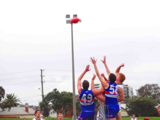 Flying for the ball
