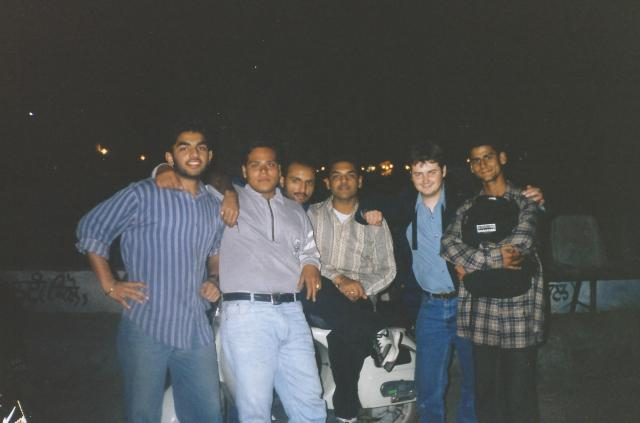 Some of my new friends and I in Jaladhar