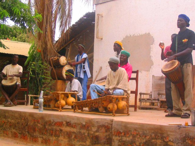 Funky drumming in Banfora.