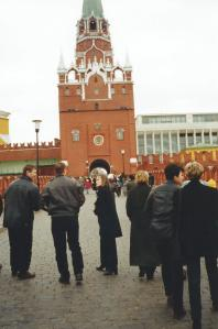 Entrance to the Kremlin in Moscow.