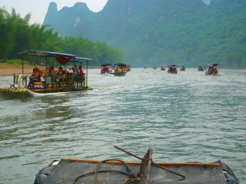 Boats on the Li River