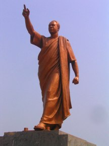 A statue of Kwame Nkrumah.