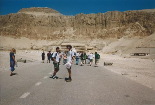 Entering the Valley of the Kings.