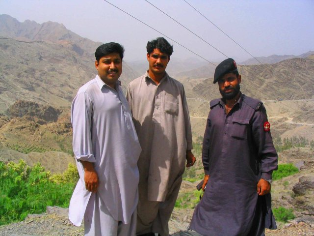 Sohail, driver and guard where we stopped, 2km or so from Afghanistan.