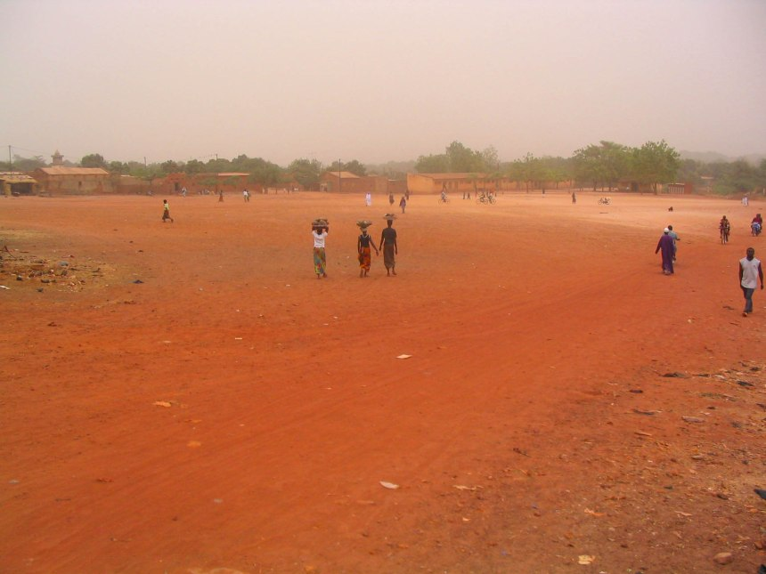 The red Earth of Burkina Faso