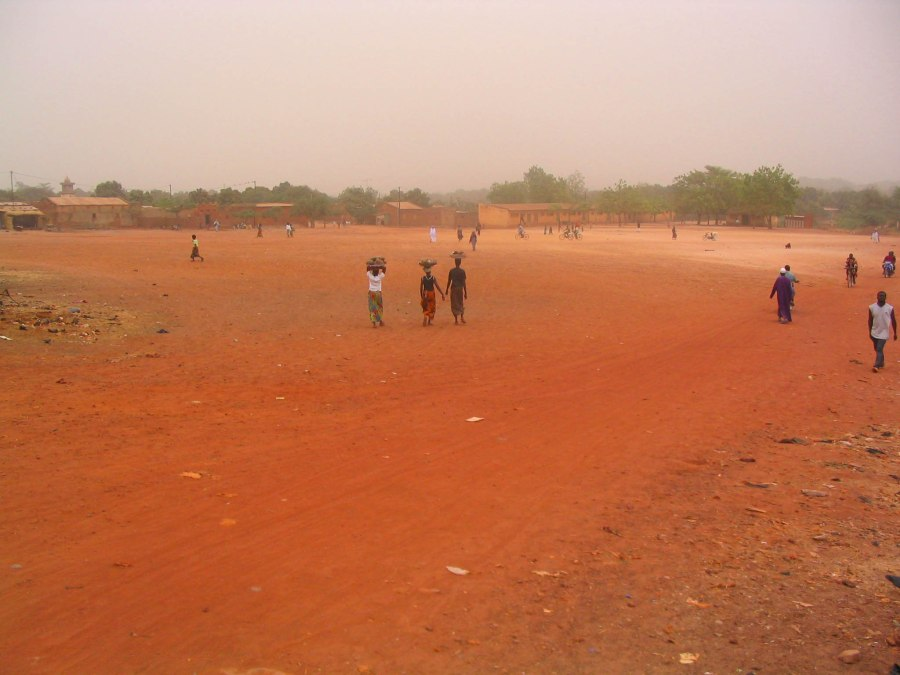 The red Earth of Burkina Faso