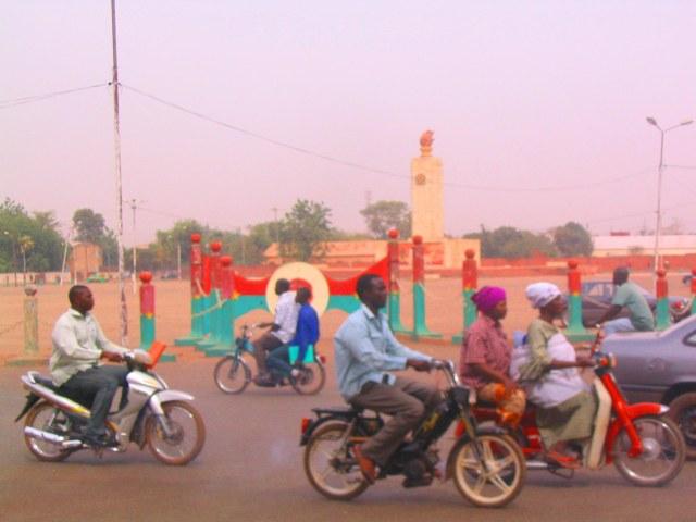 Motorbikes in Ouagadougou.
