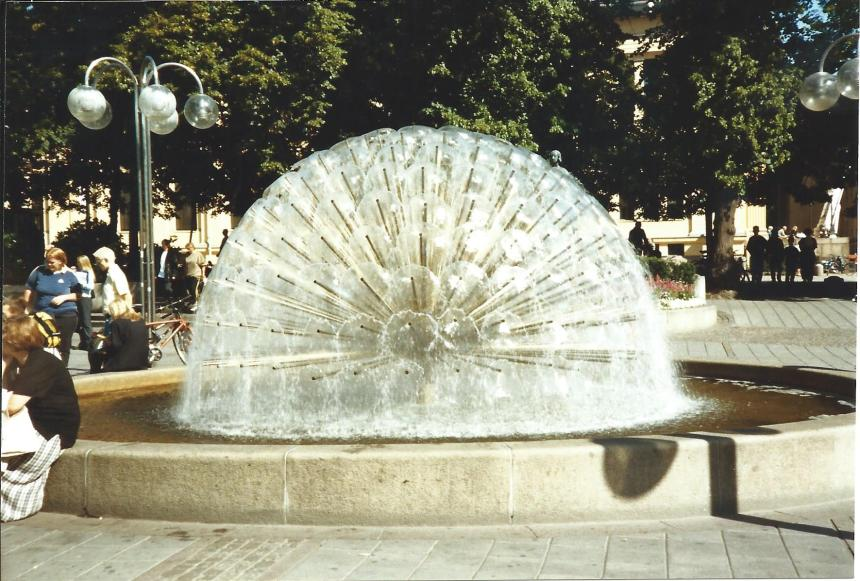 Cool fountain in Oslo.