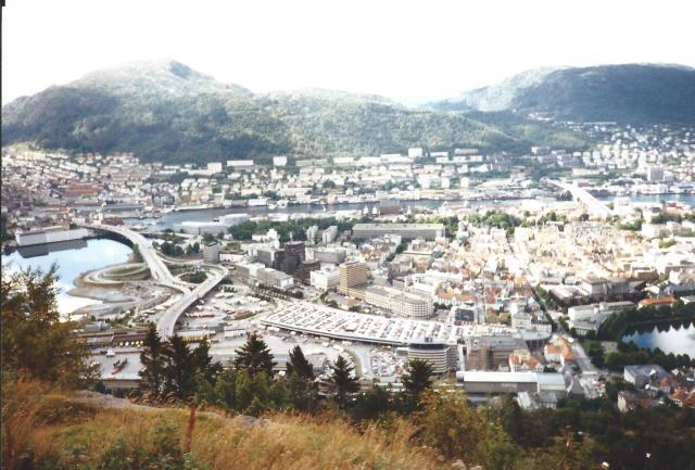The beautiful city of Bergen.