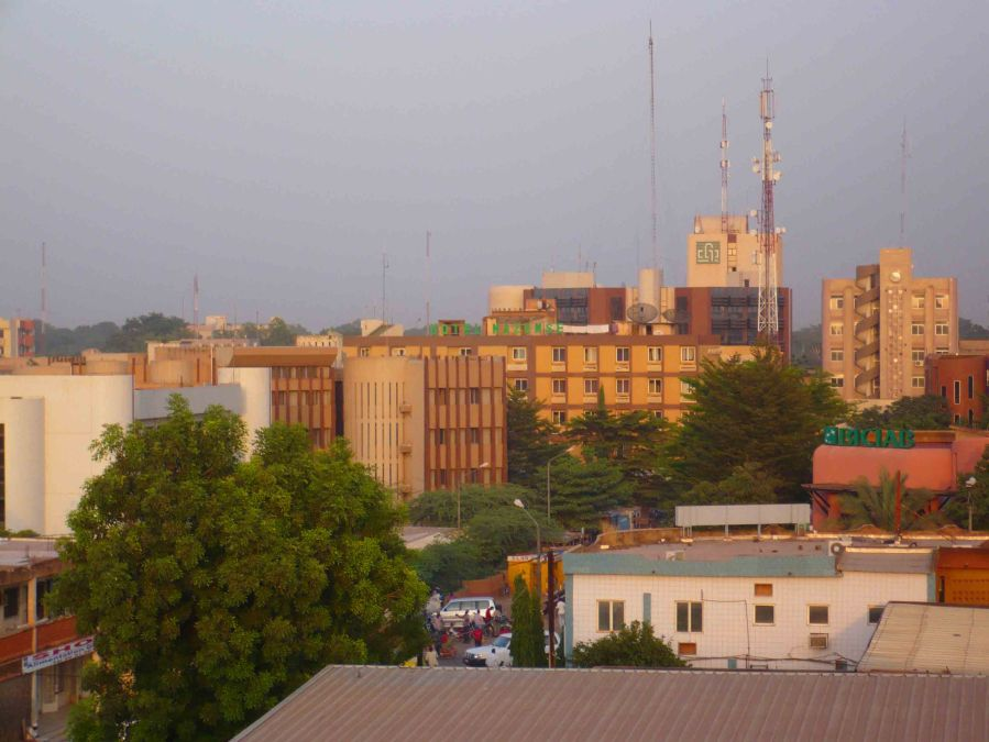 A view from the roof of our hotel in Ouagadougou.