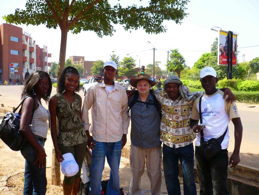 New friends in Ouagadougou