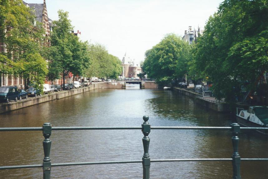An Amsterdam canal.