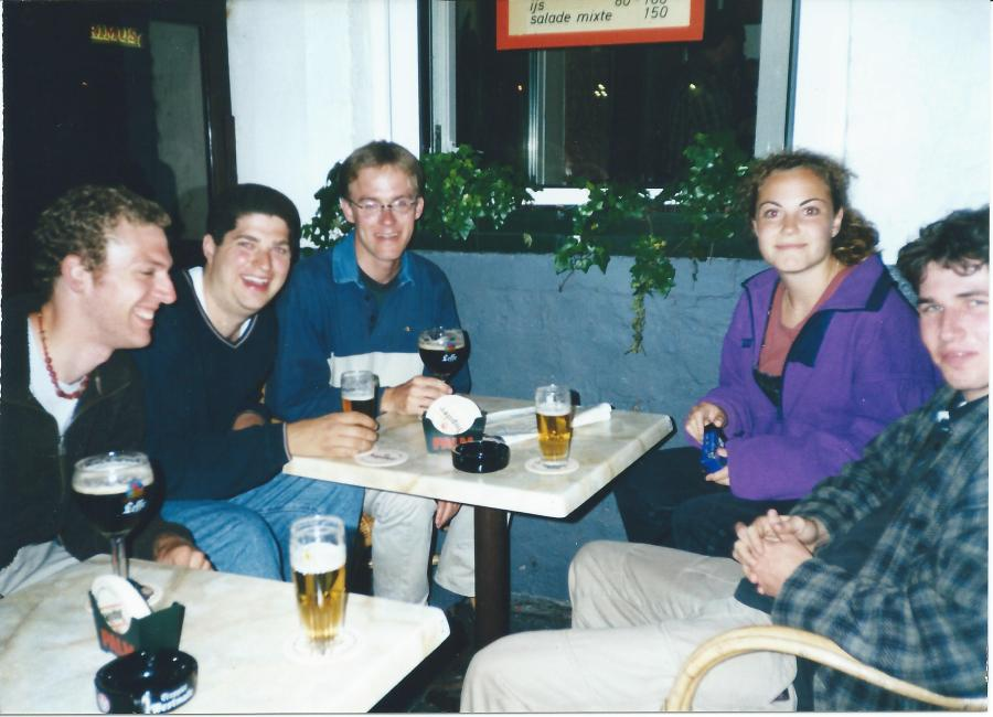 Group of friends in Bruges.