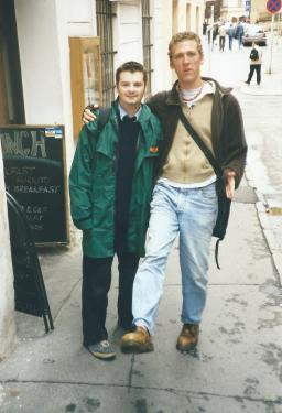 Mike and I back in Prague, 1999.