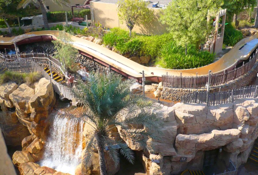 One of the cool waterslides at Wild Wadi.