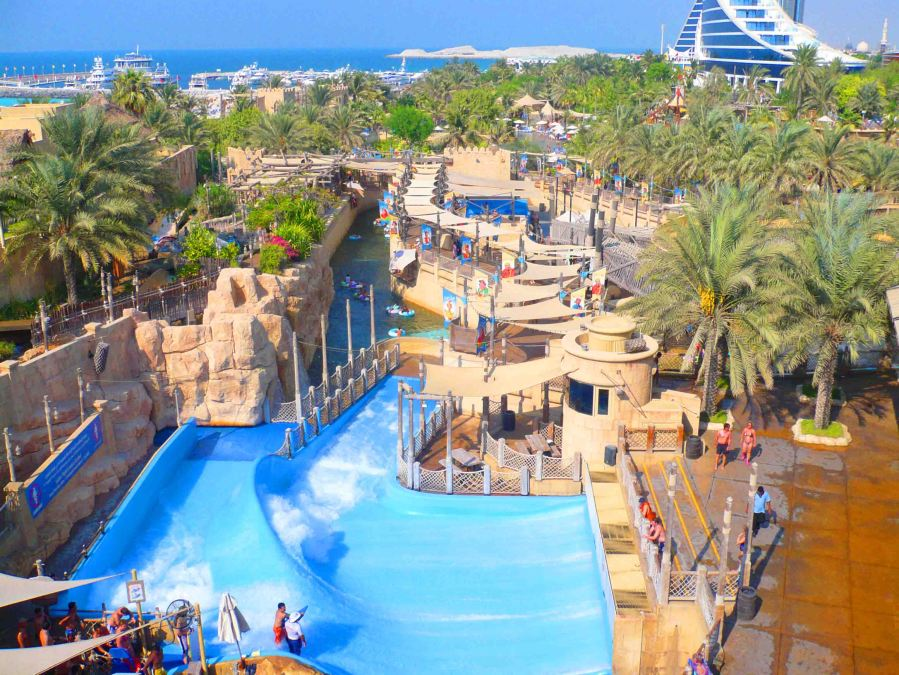 A view over Wild Wadi.
