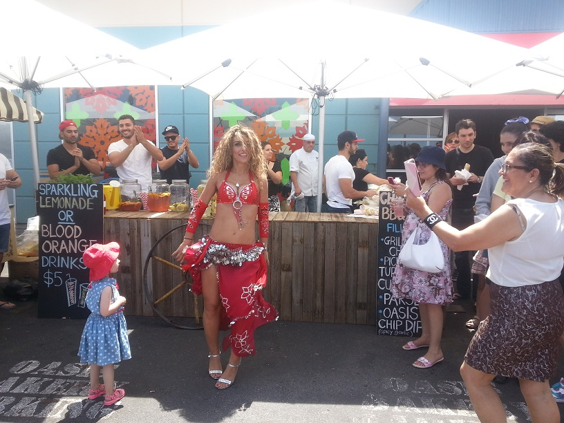 Belly Dancing at the Middle Eastern food festival!
