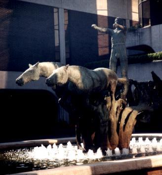 A fountain in Dublin.