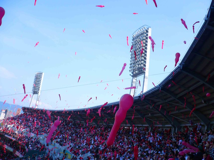 Balloon release at the seventh innings stretch.
