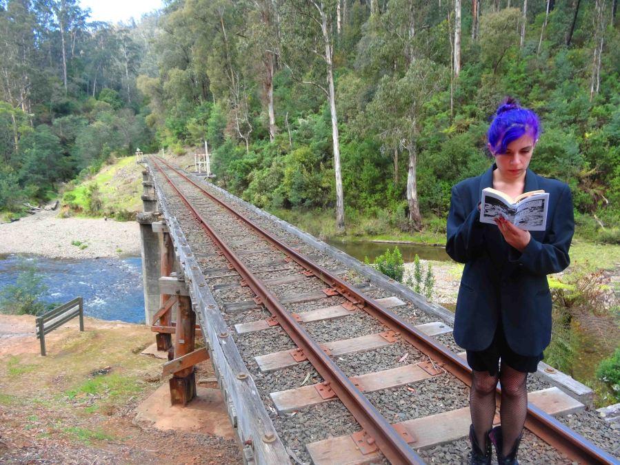A scene on a bridge, a few kilometres from Walhalla.