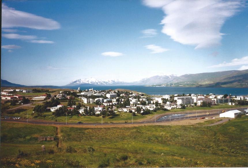 Town of Akureyri.