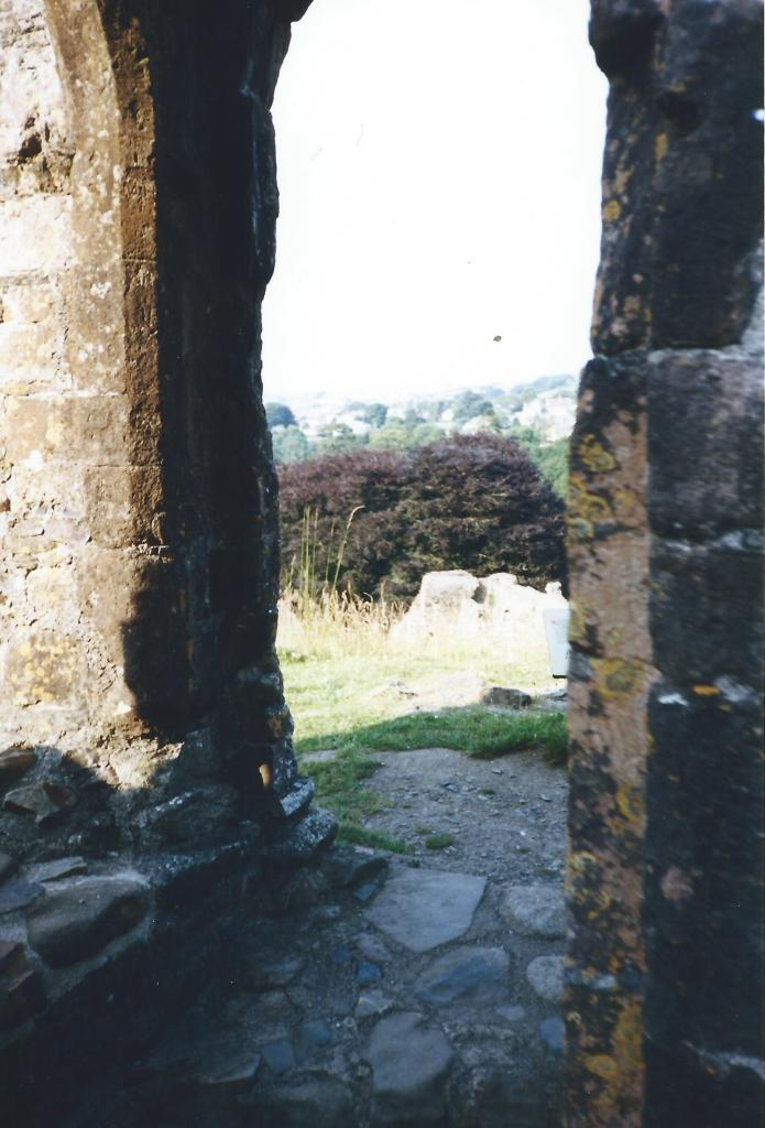 From the ruins.