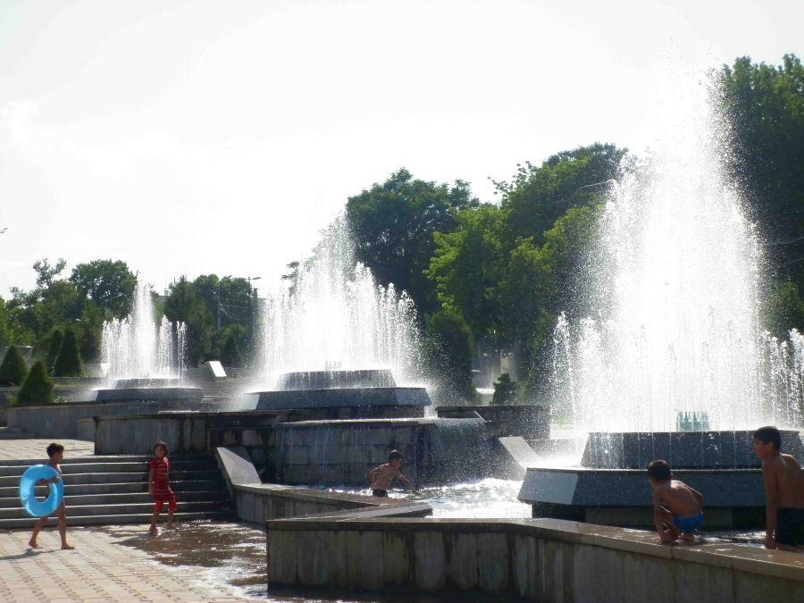 Fountains in Samarkand.