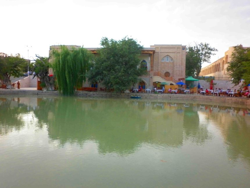 'Lake' in the main square, Bukhara.
