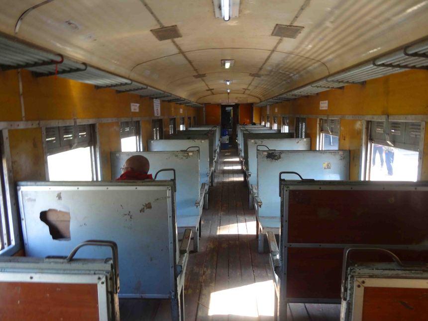 Carriage on the Pyin Oo Lwin train, standard class.