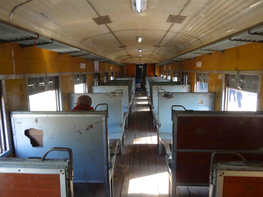 Carriage on the Pyin Oo Lwin train, standard class.
