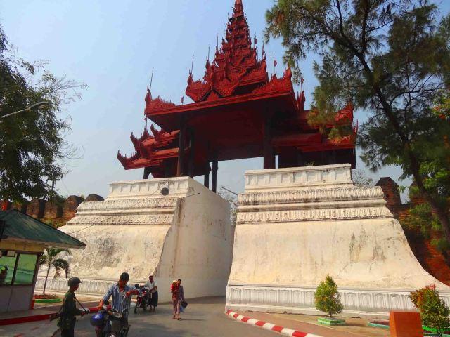 Gate tourist enter through to the citadel.