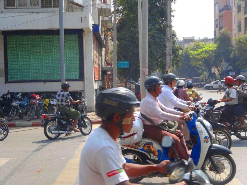 Mandalay motorbikes on the ready!