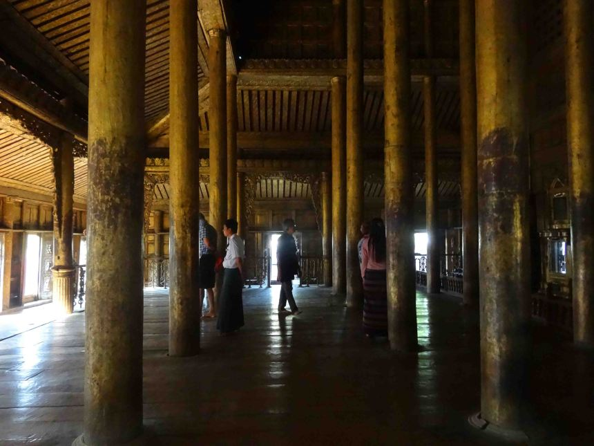 Inside the Shwednandew Pagoda