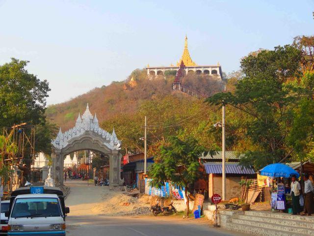 Mandalay Hill before the climb. It looks bigger in real life!