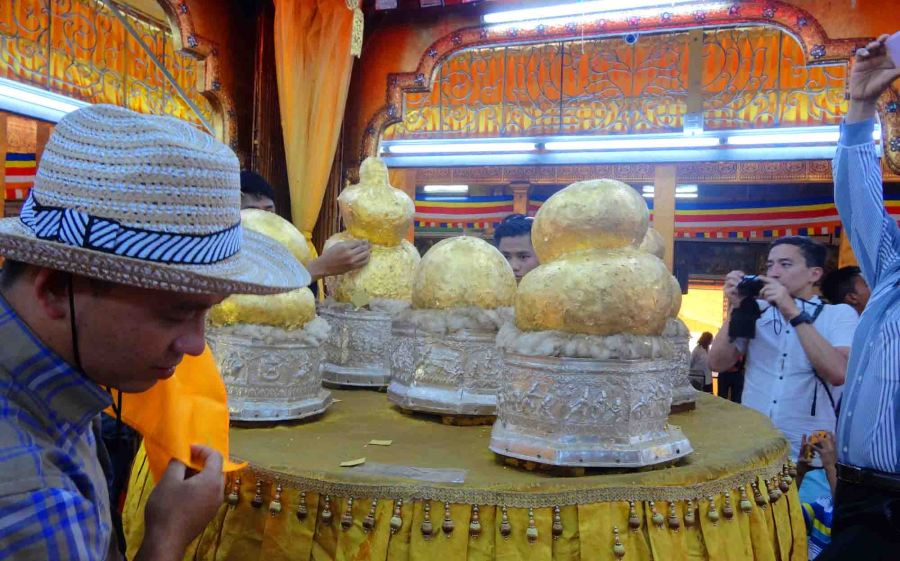 Inside, if you can believe, are little Buddha statues.