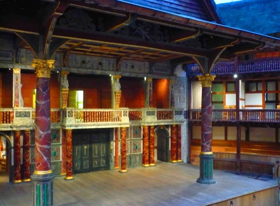 The place to see a show - Shakespeare's Globe in London.