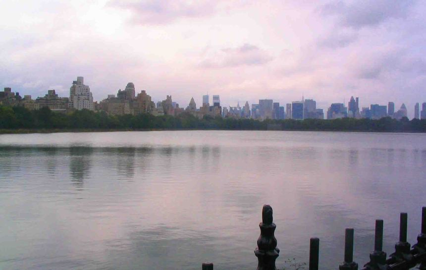 Manhattan across Central Park.