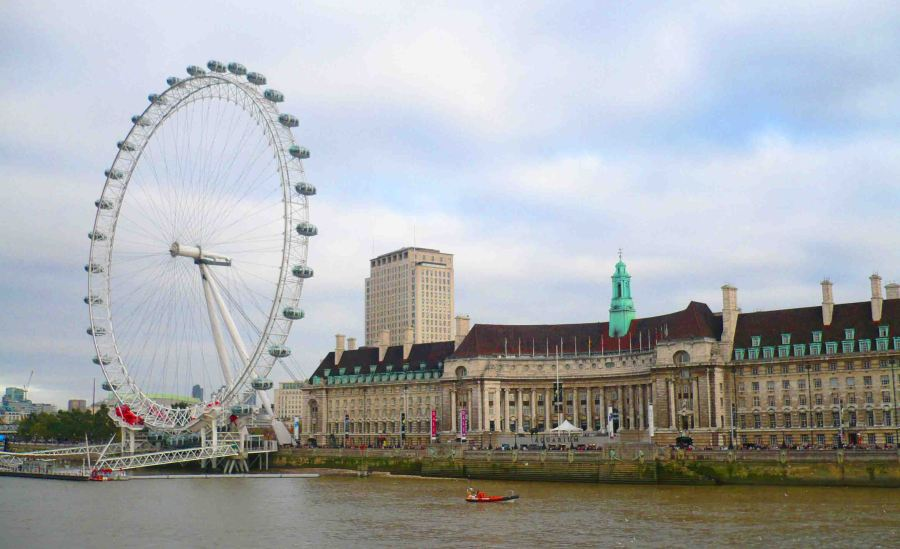 London Eye and the Thames.