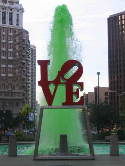 'Love' Park. This is the place for selfies.