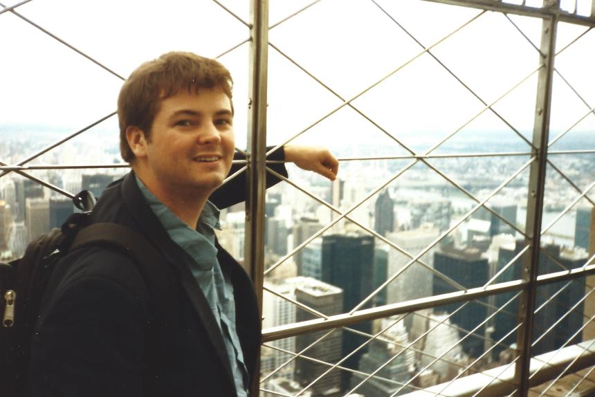 New York from the Empire State Building. And me.
