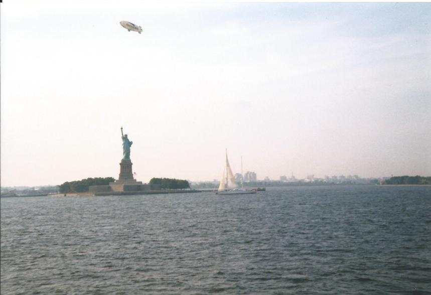 The Statue of Liberty from the ferry.